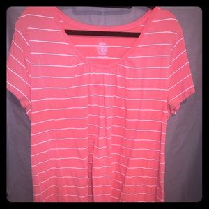 Pink top with gathered bust